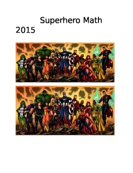 Super Hero Math Posters