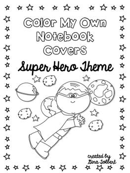 Super Hero Notebook Covers