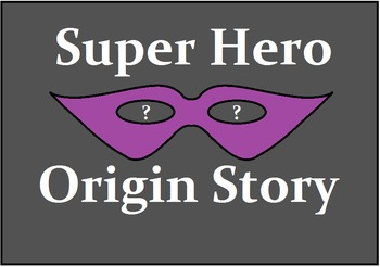 Super Hero Origin Story Activity
