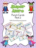 Super Hero Punch Card Pack 2