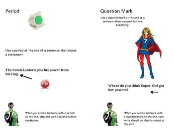 Super Hero Punctuation Book