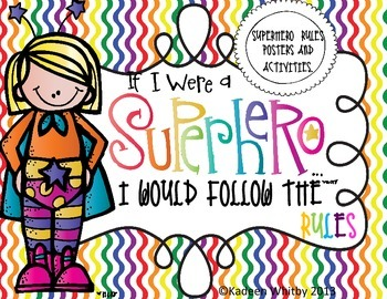 Super Hero Rules SET with student booklet(EDITABLE)