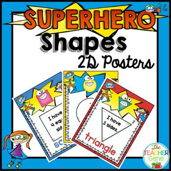 Super Hero Shape Posters {2D}
