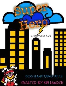 Super Hero Sight Word Game CC Aligned