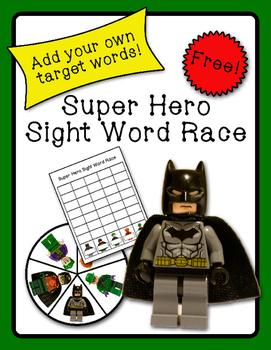 Super Hero Sight Word Race