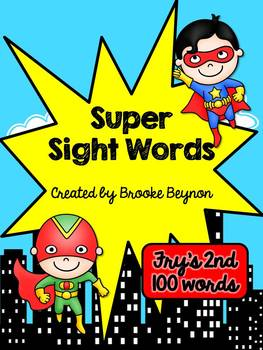 Super Hero Sight Words - Fry's Second 100