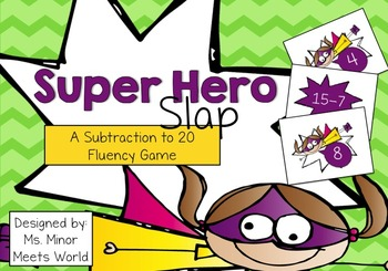 Super Hero Slap (Subtraction 10-20)