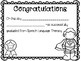 Super Hero Speech/Language Certificates