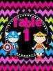 Super Hero Table Signs *bright chevron on black*