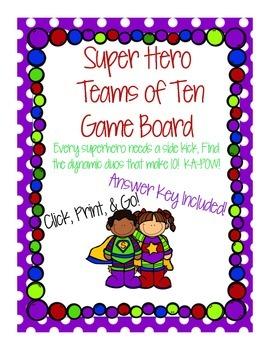Super Hero Teams of Ten Game
