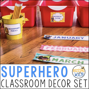 Super Hero Classroom Decor Pack