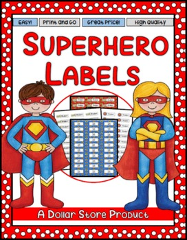 Superhero Themed Classroom Labels - EDITABLE