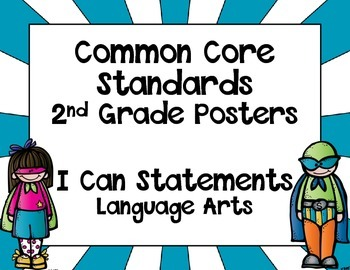 Super Hero Themed Common Core Standards Posters - Language