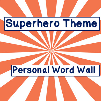 Super Hero Word Book