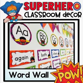 Word Wall {Superhero Classroom Decor Theme}