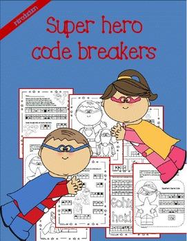 Super Hero code breaker scavenger hunt!