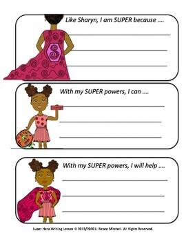 Super Hero writing activities