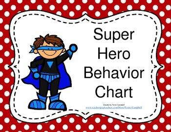 Super Heroes Behavior Chart II