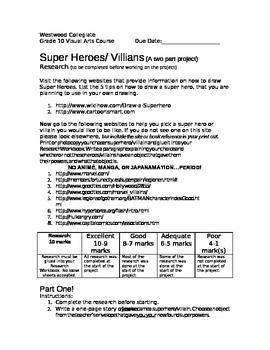 Super Heroes/Villians