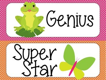 Super Improver Wall - Bright Dots with Frogs