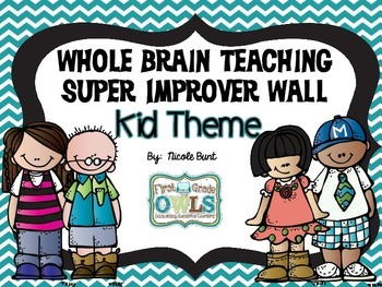 Super Improver Wall Level Headers Kid Theme