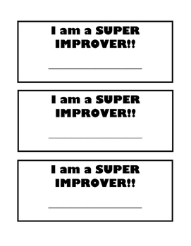 """Super Improver student cards """"Sports Theme"""""""