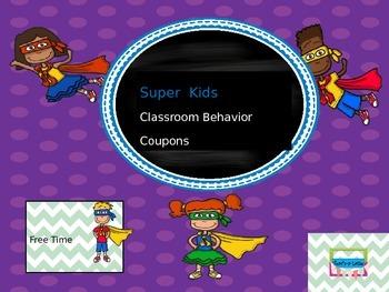 Super Kids Behavior Rewards