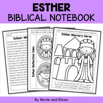 Queen Esther Interactive Notebook Bible Unit