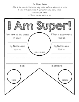 Super Kids First Week of School Activity and Banner