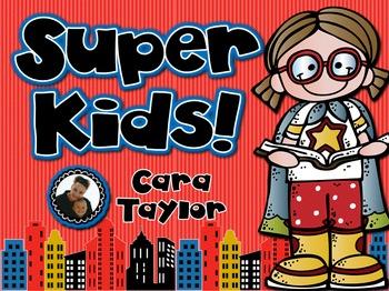 Super Kids September Beginning of the Year Centers