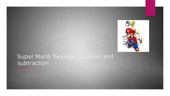 Super Mario Brothers Themed Two digit Addition and Subtrac