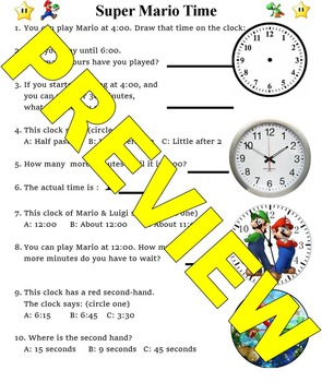 Super Mario Telling Time