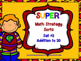 Super Math Strategy Sort #3  Addition to 20