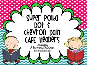 Super Polka Dot and Chevron Daily Cafe Headers