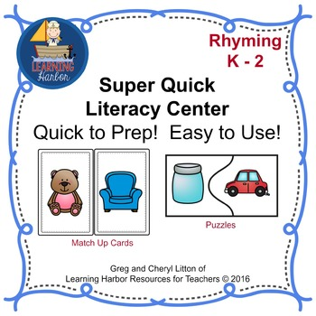Super Quick Centers Rhyming K-2