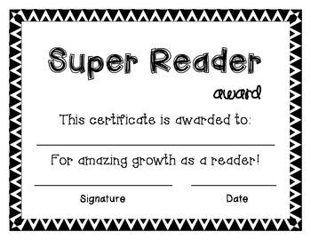 Super Reader Award