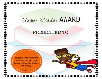 Super Reader Award: Boy