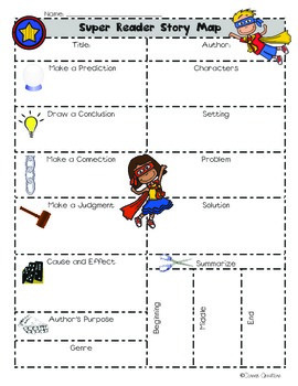Close Reading Super Reader Story Map (Literary Comprehensi