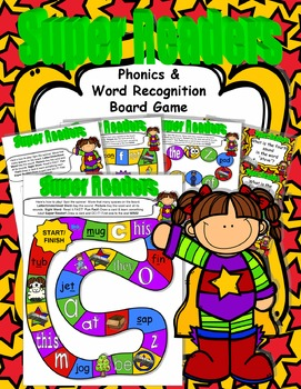 Back to School SUPER Readers! Phonics & Word Recognition B