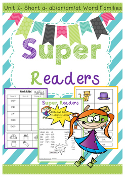 Super Readers -ar/ab/am/at Word families Pack