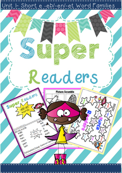 Super Readers -eb/-en/-et Word families Pack