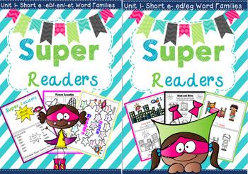 Super Readers -eb/-en/-et + ed/eg Word Families Bundle