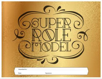 Super Role Model - Reward Certificate