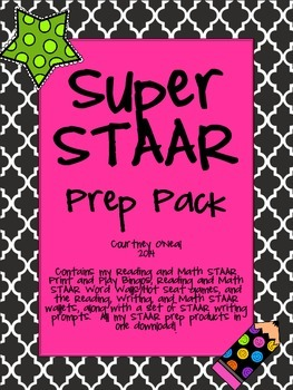 Super STAAR pack - ALL study wallets, bingo games, and wor
