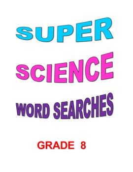 Super Science Word Searches Grade 8