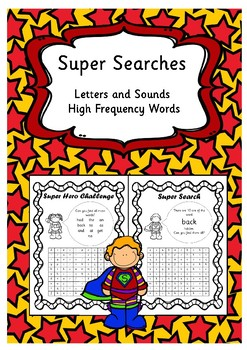 Super Searches - Letters and Sounds High Frequency and Tri