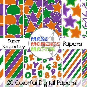 Super Secondary Set  --  A Digital Paper Pack!