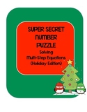 Super Secret Number Puzzles Solving Equations - Holiday Edition