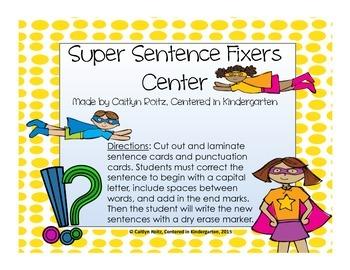 Super Sentence Fixers Center!