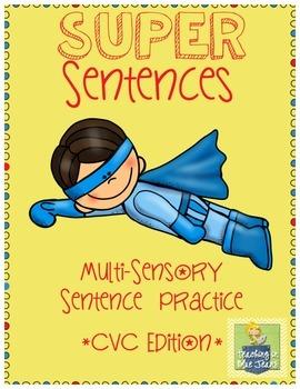 Multi-Sensory Sentence Practice Pages - CVC Words